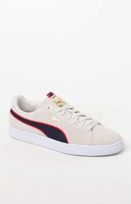 Puma Suede Classic Sport Gray & Red Shoes