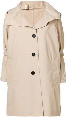 Prada hooded trench coat