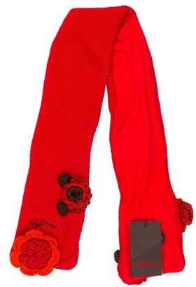 Catimini Girls' Crochet Floral Scarf w/ Tags