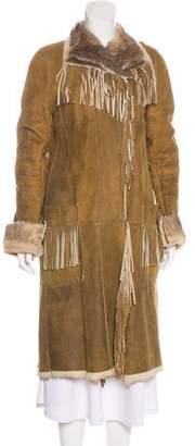 Sylvie Schimmel Fringe-Trimmed Fur Coat