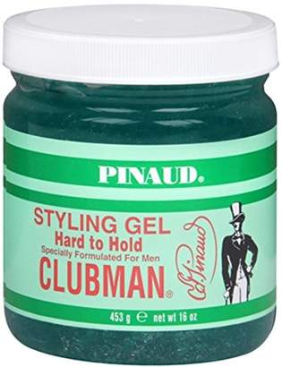 Clubman Pinaud Styling Gel Hard To Hold 16 oz (Pack of 12)