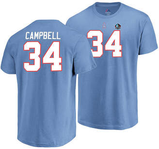 Majestic Men Earl Campbell Houston Oilers Hall of Fame Eligible Receiver Triple Peak T-Shirt