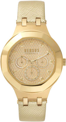 Versus By Versace Laguna City 40mm Round Gold IP Day/Date Watch with Strap