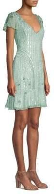 Parker Black Jane Beaded Flounce Dress