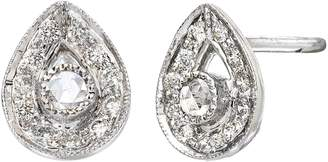 Couture SETHI Diamond Plume Stud Earrings