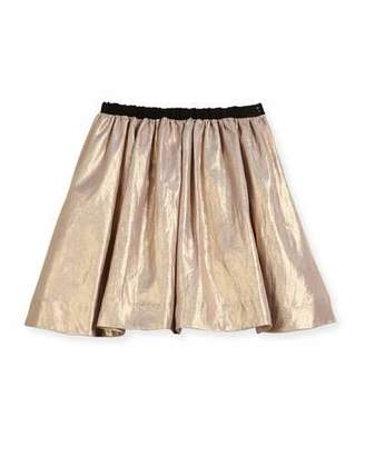 Bonpoint Metallic A-Line Skirt, Size 3-8