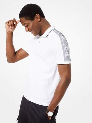 Michael Kors Logo-Sleeve Stretch-Cotton Polo Shirt