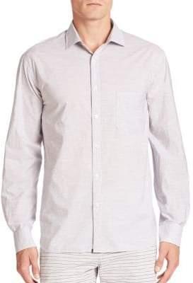 G Star Long Sleeve Striped Button-Down Shirt