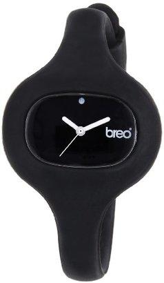 Breo Pureレディースクォーツウォッチブラックダイヤルアナログ表示とブラックゴムストラップb-ti-pur7