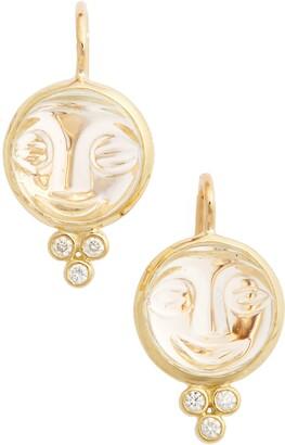Temple St. Clair Moonface Diamond & Rock Crystal Earrings