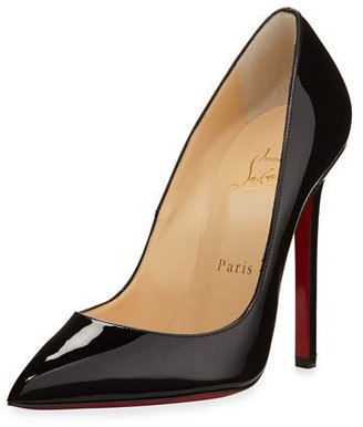 Christian Louboutin Pigalle Patent Leather Red Sole Pump $675 thestylecure.com