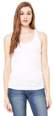 Clementine Apparel Women's Fitted Ribbed Racerback Tank Top