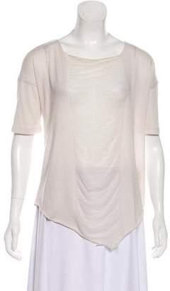 3524bb2004e7b1 Raquel Allegra Short Sleeve Open Knit Top