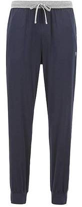 HUGO BOSS Pyjama bottoms in stretch fabric with cuffed hems