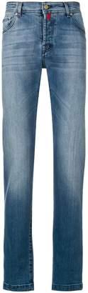 Kiton straight-leg faded jeans