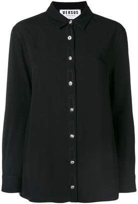 Versus safety pin embroidered shirt