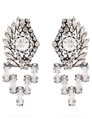 Sonia Rykiel Crystal-embellished drop earrings