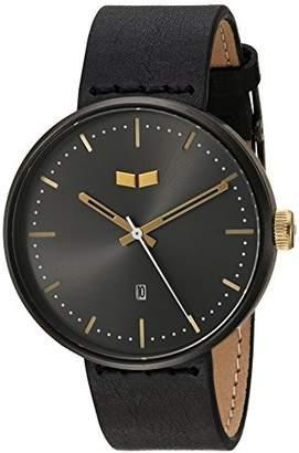 Vestal ' Roosevelt Italian Leather' Quartz Stainless Steel Dress Watch