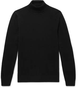 Mr P. - Slim-Fit Merino Wool Rollneck Sweater - Black