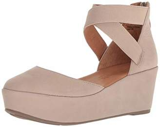Gentle Souls Women's Nyssa Platform Wedge with Anklestrap