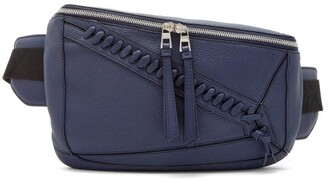 Loewe Puzzle Leather Belt Bag - Womens - Navy