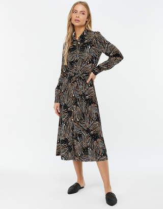 372441005ed Monsoon Zia Zebra Print Midi Shirt Dress