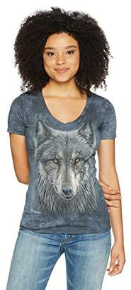 The Mountain Women's Warrior Wolf Tri-Blend V-Neck