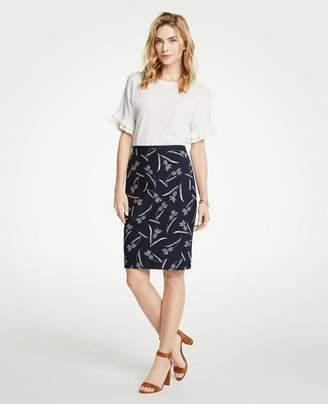 Ann Taylor Petite Pineapple Pencil Skirt