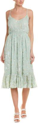 HEMANT AND NANDITA Velvet Midi Dress