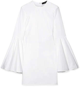 Ellery Dogma Cotton-poplin Mini Dress - White