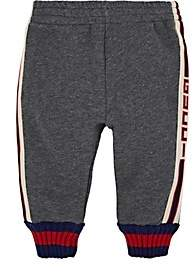 Gucci Kids' Logo Cotton French Terry Sweatpants - Gray