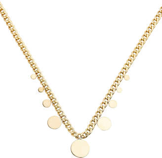 Chicco Zoë Curb Chain Hanging Disc Necklace