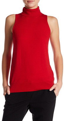 Trina Turk Ideal Sleeveless Turtleneck Wool Sweater $178 thestylecure.com