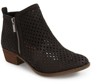 Women's Lucky Brand 'Basel' Perforated Bootie $119.95 thestylecure.com