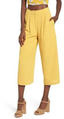 J.o.a. Pleat High Waist Crop Wide Leg Pants