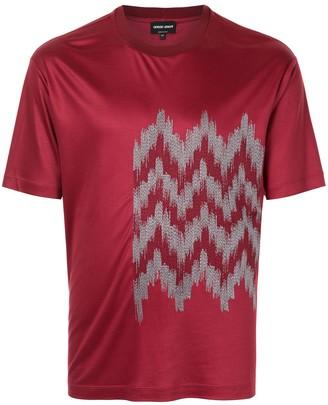 Giorgio Armani jacquard detail T-shirt