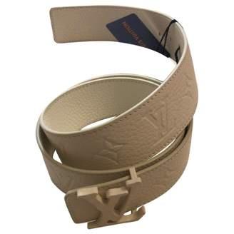 Louis Vuitton White Leather Belts