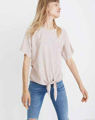 Madewell Button-Back Tie Tee in Stripe
