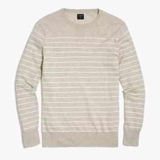 J.Crew Cotton-linen crewneck sweater in stripe