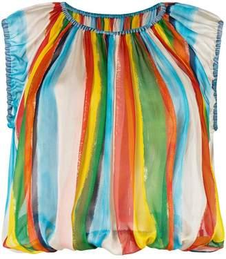 Dolce & Gabbana stripe print shell top