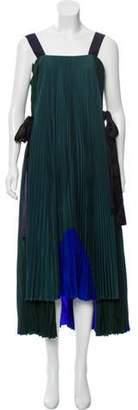 Fendi Silk Maxi Dress Green Silk Maxi Dress