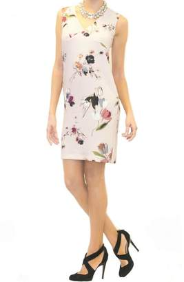 Scee Sleeveless Pink Floral Dress