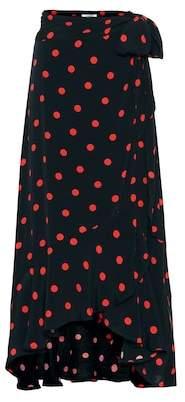 Ganni Polka-dot midi skirt