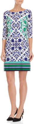 Vince Camuto Printed Quarter Sleeve Dress
