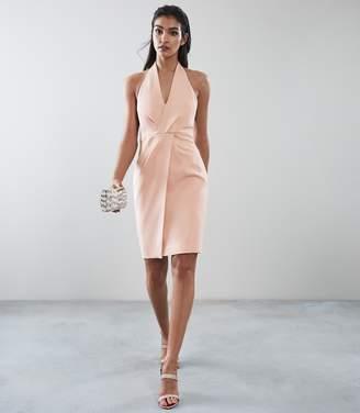 Reiss Yuma Twist Front Halter Neck Dress