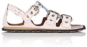 Miu Miu Women's Colorblocked Patent Leather Sandals - Gemma+Ciel