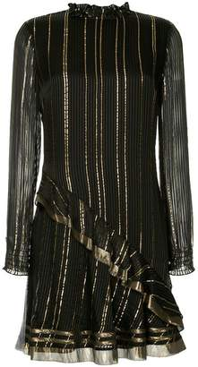 Derek Lam 10 Crosby metallic striped dress