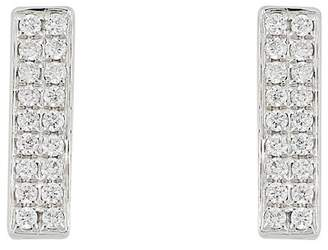 Bony Levy 18K White Gold Diamond Bar Earrings - 0.11 ctw