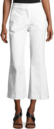 Piazza Sempione Mid-Rise Flared-Leg Cotton Gabardine Pants