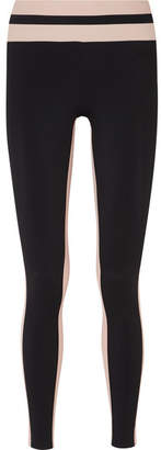 Vaara - Flo Tuxedo Striped Stretch-jersey Leggings - Black